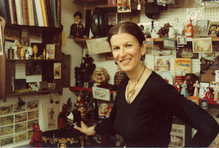At stall in Portobello Road, London 1980s